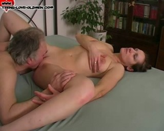 This older dude loves to fuck his way younger slut