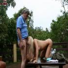 Blonde teeny slut doing an older horny bastard