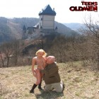 teen slut finds an old man outside and has to fuck him