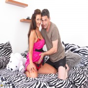 Hot naughty teen fooling around with a dirty old man
