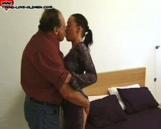 teenager loving the old mans cock