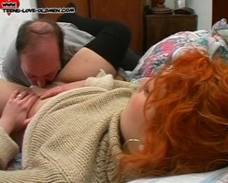 redhead teen getting fucked by an old man