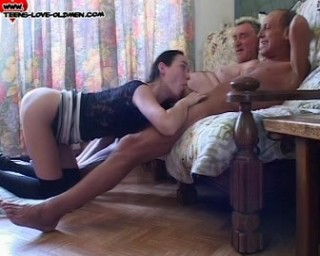 old men and a young girl threesome