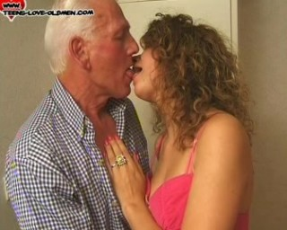 getting her pussy streched by an old man