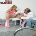 This hot teen has a lot of fun with an older man