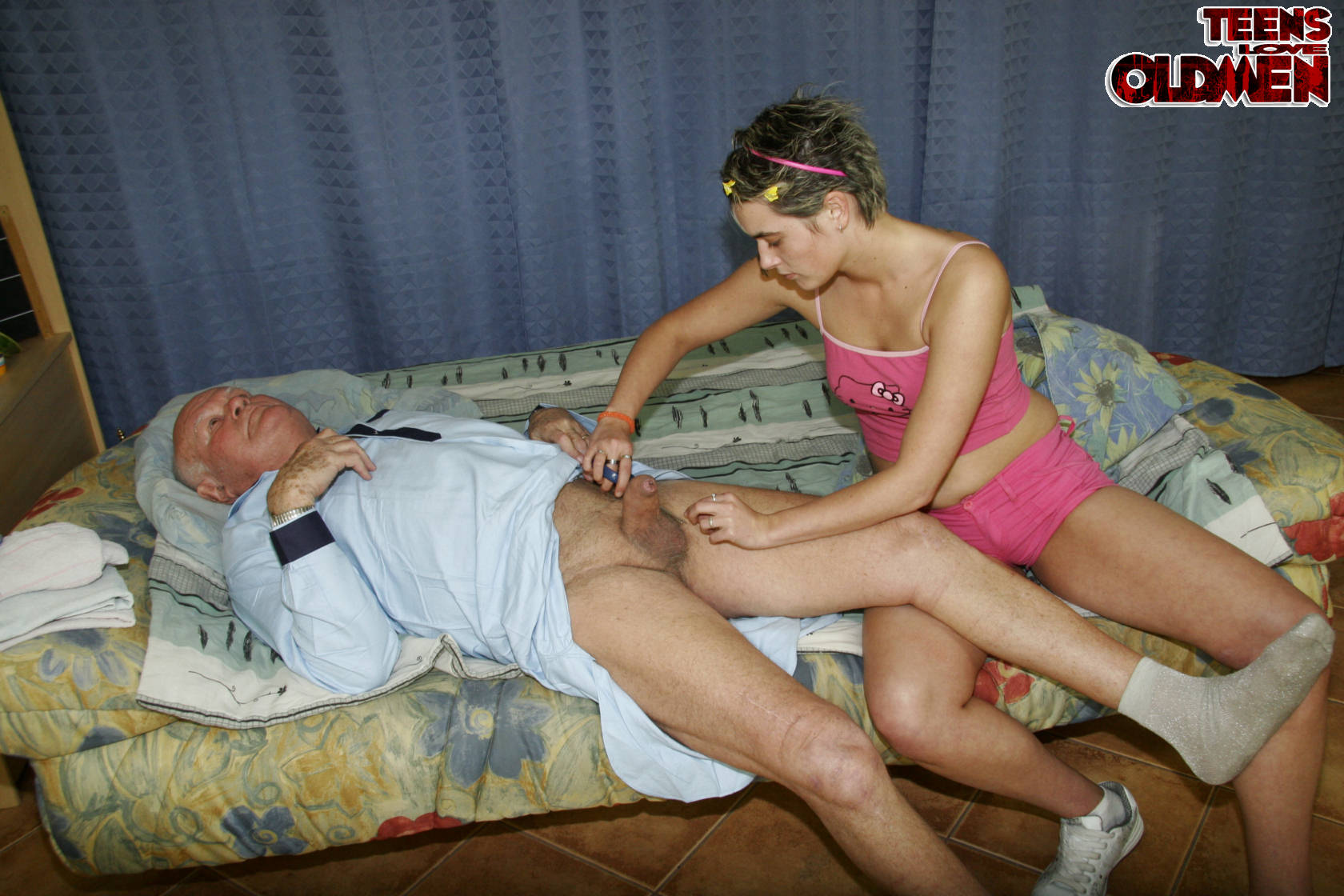 Horny old pervert and old man fuck young 3